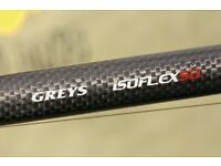 Pair of brand new greys Isoflex carp rods 3.25lb 50mm 12ft