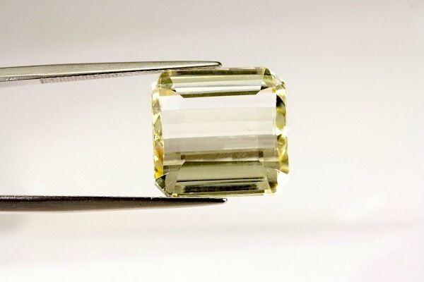GemsVillage 17,85 Ct. A very rare & natural Brazilian unheated Yellow Spodumene.
