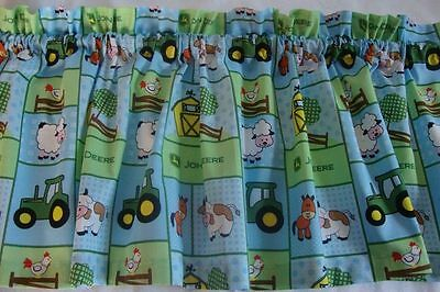 John Deere Baby Boy Valance Curtain Custom Made 42
