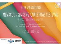 Club Soda Mindful Drinking Christmas Festival