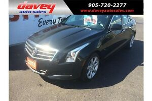 2013 Cadillac ATS 2.0L Turbo ALL WHEEL DRIVE, SUNROOF, LEATHER