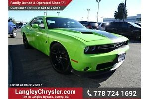 2015 Dodge Challenger Scat Pack w/6.4L V8, Leather & Navigation
