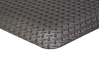 3' X 10' X 15/16 Diamond Plate Surface Anti Fatigue & Industrial Mats Black.