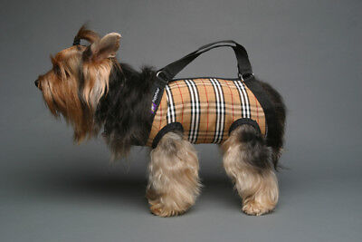 Brown beige plaid pet small dog carrier harness sling puppy purse  S M L  XXL