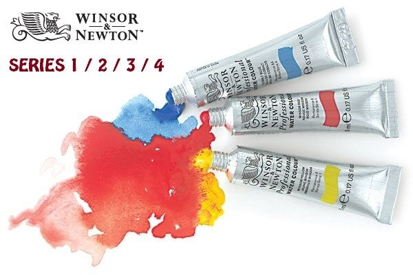 WINSOR & NEWTON PROFESSIONAL WATER COLOUR TUBES -5ML/14ML/ 96 COLOURS/SERIES 1