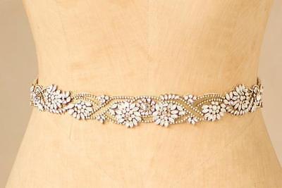 NWT $498 Camilla Christine Martha Jeweled Sash in Gold