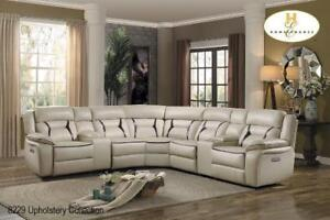 Leather Sectional with Power Recliners on Sale (BD-2413)