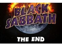 2 seated black sabbath tickets the last show
