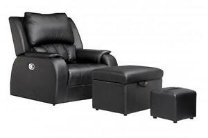 Pu Leather Premium Recline Foot Massage Chair Sofa Ottoman