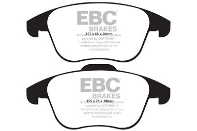 EBC Ultimax Front Brake Pads for Audi Q3 2.0 TD (140 BHP) (2015 on)