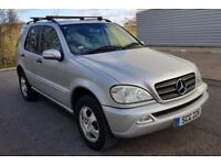 2005 05 MERCEDES ML 270 CDI AUTOMATIC, **1 OWNER FROM BRAND NEW** DRIVES LIKE NEW, £3495.00