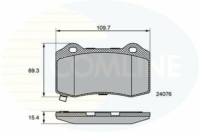 Rear Brake Pads FOR DODGE CHARGER 6.4 11->ON CHOICE1/2 Saloon Petrol Comline (Dodge Charger Brake Pads)