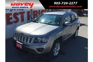 2015 Jeep Compass Sport/North 4X4, LEATHER, MP3 INPUT