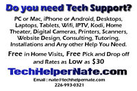 Do you Need Tech Support? FREE ESTIMATES