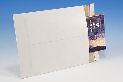9 34 X 12 14 Cardboard Mailers 100 - White Paperboard Rigid Shipping Envelopes