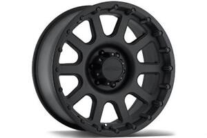 "17"" Wheel Set Jeep Wrangler JK JL Wheels Matte Black Rims Mag Rim Pro Comp 7032 17x9"