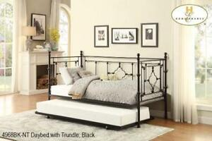 Black Metal Daybed with Trundle | Metal Daybed Sale (MA303)