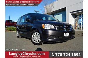 2016 Dodge Grand Caravan SE/SXT LOW KMS, LOCAL & ACCIDENT FREE