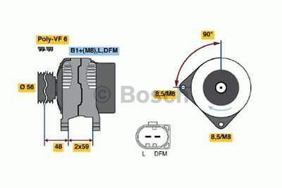Fox V2 Print - 1x Bosch Alternator 4725 0986047250 [3165144046400]