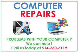 PC, Laptop, Computer Repair, Support, Service - Free Estimate
