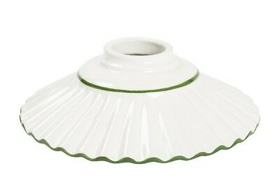 Ceramics for suspended chandelier replacement substitute GREEN BORDER 30 CM