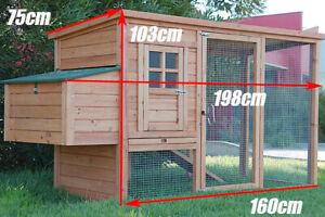 Large Chicken Coop Rabbit Hutch Ferret Cage Hen Chook House