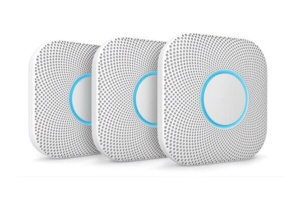 Google Nest Protect 3-Pack Battery Smoke And CO Alarm - New, Sealed (S3006WBUS)