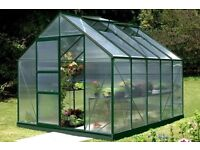 8x10 Vitavia Neptune 8300 Green Aluminium Greenhouse (Polycarbonate) RRP £960 - excludes base