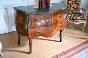 Antique Style French Bombe Commode