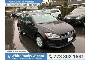 2016 Volkswagen Golf 1.8 TSI Trendline ACCIDENT FREE, LOW KM'...