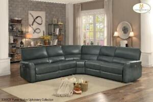 Grey Leather Power Sectional Recliner - Recliner on Sale (BD-2435)