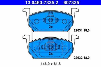 ATE (13.0460-7335.2) Bremsbeläge, Bremsklötze vorne für AUDI SEAT SKODA VW
