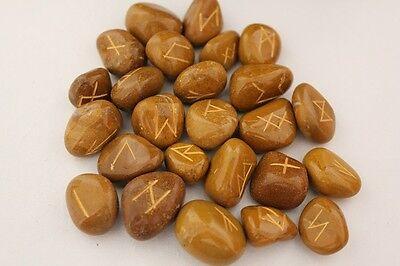 Runensteine, Runenstein Set, Handgefertigt mit Gravur,brauner Jaspis