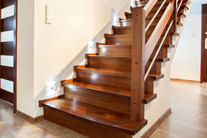 RELIABLE HARDWOOD STAIRS, RAILINGS, BALUSTERS, RE CAPPING AND MO
