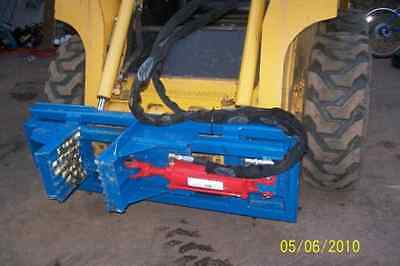 Standard Duty Tree And Post Puller For Skid Steer Hydraulic