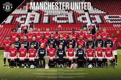 Manchester United FC Poster - Team 17/18 - New Man Utd Football poster SP1478