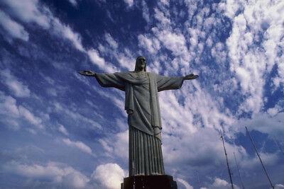 776021 Statue Of Jesus Rio De Janeiro Brazil A4 Photo (Statue De Jesus A Rio De Janeiro)