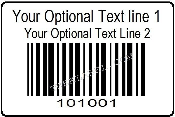 1000 Serial Barcode Sequential Consecutive Number Roll Stickers PolyPropylene