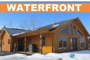 River John-Riverfront Log Home with HUGH Garage & In-law Suite.