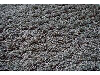 Rug - Brown deep pile rug 100 x 150cm