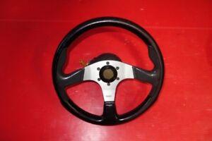 JDM Lexus IS300 Momo D35 OEM Steering Wheel & Hub Blitz Cap