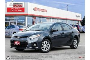 2014 Toyota Corolla S One Owner, No Accidents, Toyota Serviced