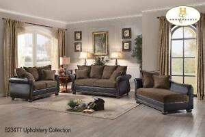 Wooden 3 PC Sofa Set with Chaise - Toronto Sale (BD-2417)
