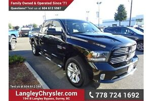 2015 RAM 1500 Sport W/HEATED SEATS & PARKVIEW REAR CAMERA