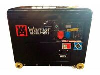 NEW WARRIOR DIESEL 3 PHASE STANDY BY GENERATORS 6KVA , BALLYNAHINCH