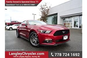 2015 Ford Mustang EcoBoost Premium W/ LEATHER, BLUETOOTH & A/C