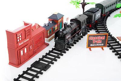 Eisenbahn Set Zug Waggons LOK Schienen Elektrische Eisenbahn Neu Zug