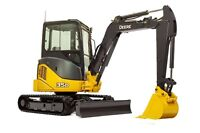 Mini excavator services / landscaping