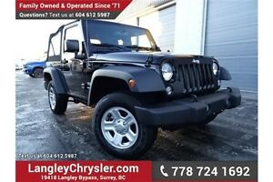 2016 Jeep Wrangler Sport LOCALLY DRIVEN, ONE OWNER & ACCIDENT...