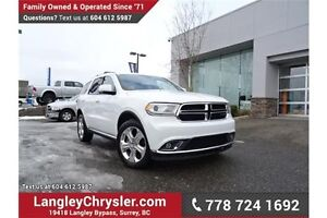 2015 Dodge Durango Limited ACCIDENT FREE w/ AWD & DUAL-SCREEN...